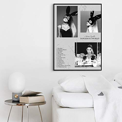 QINGRENJIE Dangerous Woman Album Pop Music Cover Music Star Poster Canvas Prints Wall Art for Living Home Decor 40X60Cm Without Frame