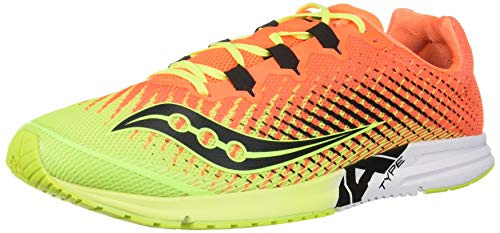 Saucony Men's Type A9 Running Shoe, Citron | Orange, 10.5