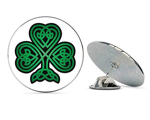 NYC Jewelers Celtic Shamrock Green and Black Metal 0.75' Lapel Hat Pin Tie Tack Pinback