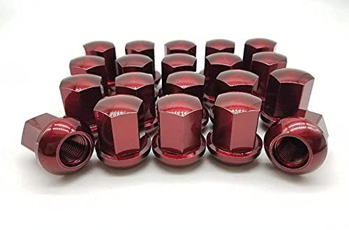 SSTI Red Premium Titanium Lug Nuts M14X1.5mm Closed Ended Racingpart Aftermarkets High Strength Nice Looking Super Light (20 pcs)