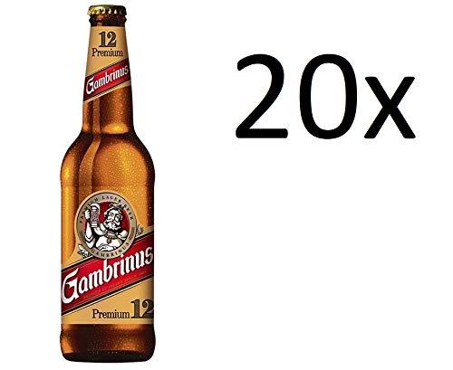 20 Flaschen Gambrinus Premium 12 Bierspezialität aus Pilsen inc. 1.60€ MEHRWEG Pfand