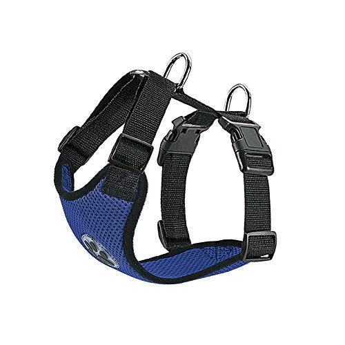 SlowTon Arnés para automóvil,(Sin cinturón de Seguridad) Arnés de Chaleco para Mascotas para Perros Seguridad en el Coche Cuello Ajustable y Correa para el Pecho