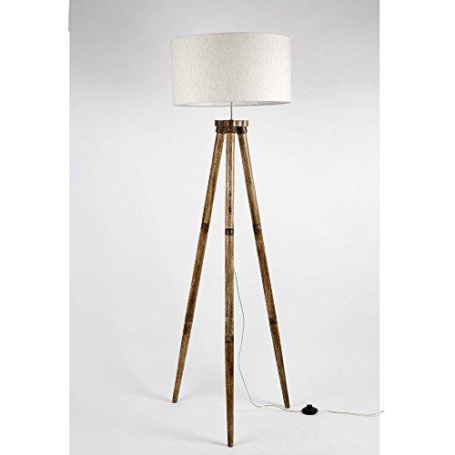 Inhouse Holzstativ Stehlampenfuß für Wohnzimmer und Schlafzimmer (ohne Schatten)