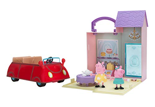 Peppa Pig's Bakery Trip Combo Pack, Includes Bakery Shop Playset, Little Red Car, and a Peppa Pig and Mummy Pig Figure