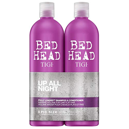 BED HEAD by TIGI – Fully Loaded, champú y acondicionador voluminizadores para pelo fino, 2 x 750 ml