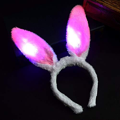 YUY Diadema con Orejas de Conejo, Fiesta de Navidad Cosplay Prop Favor Suministros Conejo Aro de Pelo Decoracin de Disfraces Accesorios de Disfraces