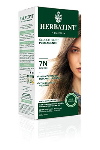 Herbatint 7N Blonde Permanent Herbal Hair Colour Gel, 1er pack (1 x 150 ml)