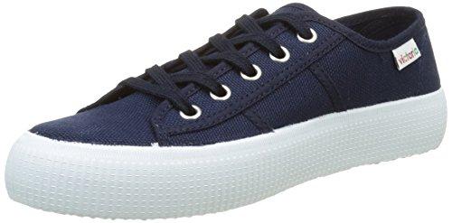 Victoria Basket Lona Gruesa, Zapatillas para Mujer, Azul (Marino), 38 EU