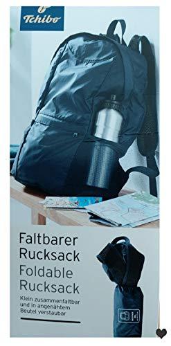 Tchibo TCM Faltbarer Rucksack für unterwegs Reise Ausflug Urlaub Ultraleicht