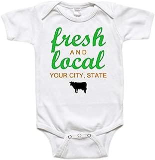 Custom Baby Bodysuit Toddler Shirt - Baby Gift - Fresh & Local Your City, State