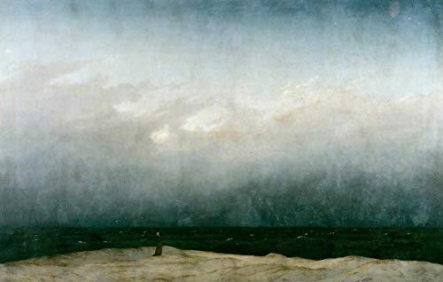 Caspar David Friedrich Giclée Leinwand Prints Gemälde Poster Reproduktion (Der Mönch am Meer)