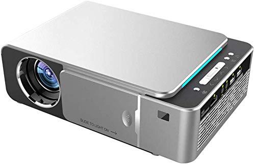 Projector 1280 x 720 LED-projector ondersteuning 1080p 4K 3500 lumen Short-Throw-projector met trapeziumcorrectie Compatibel met USB-HDMI-VGA AV-home cinema projector, grijs