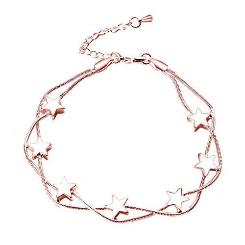 Philip Jones Rose Gold Star Bracelet