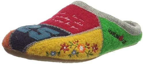Haflinger Unisex-Erwachsene Everest Hamlet Pantoffeln Grau (Steingraumeliert 84), 39 EU