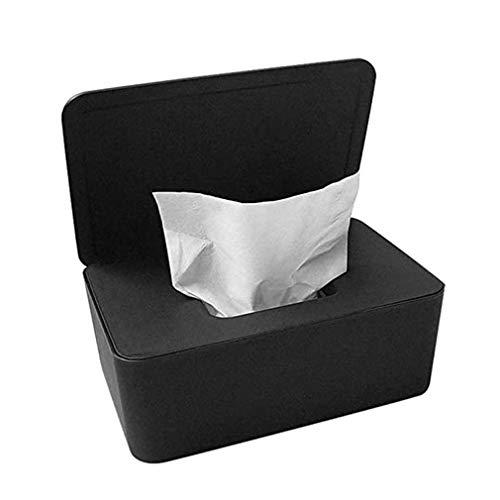 Binghotfire Estuche de Papel tisú Toallitas para bebés Caja de Almacenamiento de servilletas Soporte Contenedor Soporte para pañuelos Negro