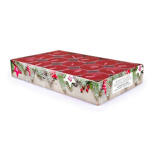 pajoma Duft Teelichter 30er Set Weihnachten Geschenk Set Lange Brenndauer Duft wählbar (Adventszauber)