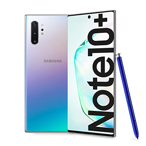 Samsung Galaxy Note10+ Smartphone, Display 6.8' Dynamic AMOLED, 256 GB Espandibili, SPen Air Action, RAM 12 GB, Batteria 4.300 mAh, 4G, Dual SIM, Android 9 Pie, [Versione Italiana], Aura Glow