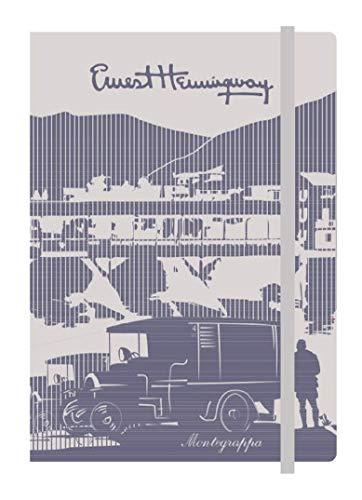 MONTEGRAPPA Hemingway Notizbuch, Notizbuch, leicht, praktisch, dünn, A5, flexibler Einband