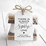 Bliss Collections S'More Love Favor Tags for Wedding Reception, Unique Table Setting Favor