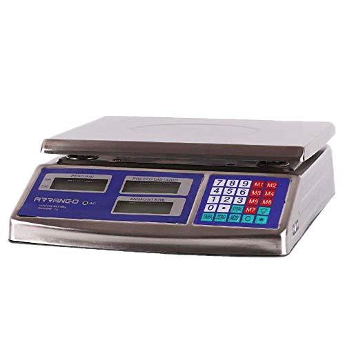 MOMEX BILANCIA ELETTRONICA DIGITALE PROFESSIONALE IN ACCIAIO INOX MAX 40 KG