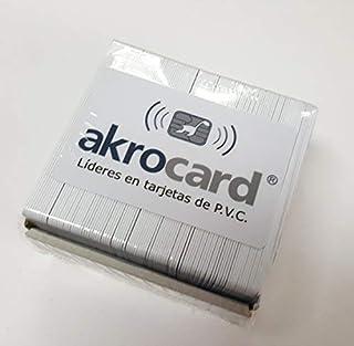 Lot de 50 badges PVC blancs avec puce de contact – DUAL – ATC24C64 + 4K conforme à la norme ISO 14443A
