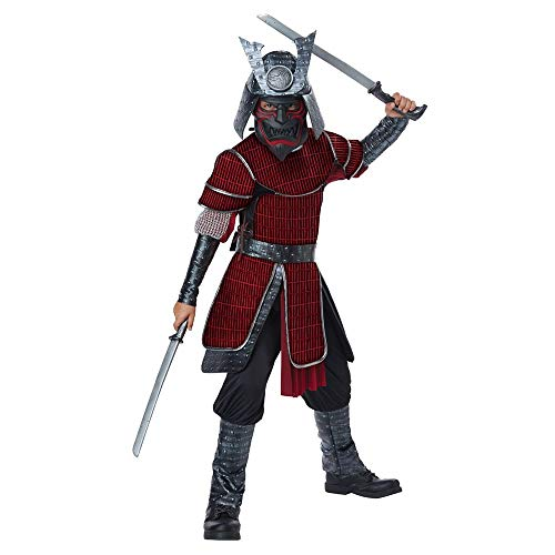 California Costumes Deluxe Samurai - Child Costume, Red/Black, Large
