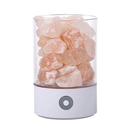 YQHWLKJ Kristall Salz Salz Nachtlicht Himalaya Kristall Stein Salz Licht Luftreiniger Nacht Licht Weiß Salz Licht Gesundheit Geschenk Nachttisch Schlafzimmer Tischlampe