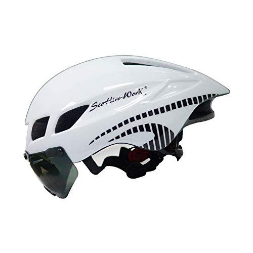 SXF-YU Fahrradhelm Einstellbarer Specialized Mountain- und Rennradhelm Für Männer Frauen Superleichter Fahrradhelm Fahrradhelm für Erwachsene Rucksack mit abnehmbarem Visier,C-OneSize