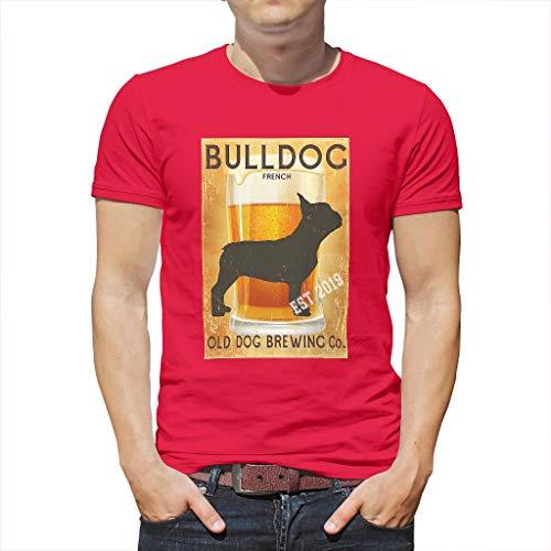 Bull Bear 3D Grafik gedruckt Kurzärmliges T-Shirt für Vater Mutter Hund mred l