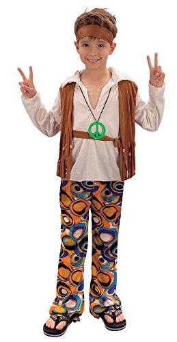 Bristol Novelty CC621 Traje Niño Hippie, Mediano, Edad aprox 5-7 años