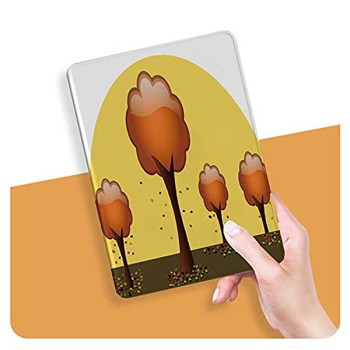 ZHOUHAOMAOYI Funda para iPad Air 4, diseño de árboles otoñal, color naranja brillante y follaje de tronco con múltiples ángulos, función atril con bolsillo, apagado automático/encendido