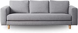 Koala Lounging Sofa with a Classic Silhouette, Wide Armrests and Timber feet   3 Seater, Brushtail Grey