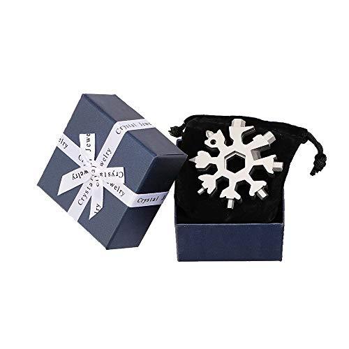 Saker 18-in-1 Edelstahl Schneeflocken Multifunktionswerkzeug Silber mit Geschenkbox