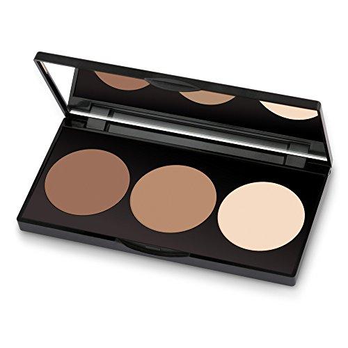 Golden Rose Long Lasting Matte Powder Contour Kit - Highlight, Bronze, & Contour Set Makeup Palette