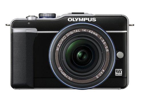 Olympus PEN E-PL1 Systemkamera (13 Megapixel, 6,9 cm (2,7 Zoll) Bildschirm, Bildstabilisator) Gehäuse schwarz
