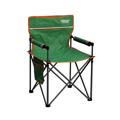 WSDSX Silla reclinable Plegable Silla Verde de Ocio para Acampar al Aire Libre, Sillón Plegable para Pesca en la Playa, Silla portátil para Mesa de Patio para el hogar, Teniendo 150 kg BEA