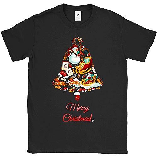 Christmas Bell Made of Sleigh Snowman Santa Reindeer Mens T-shirt