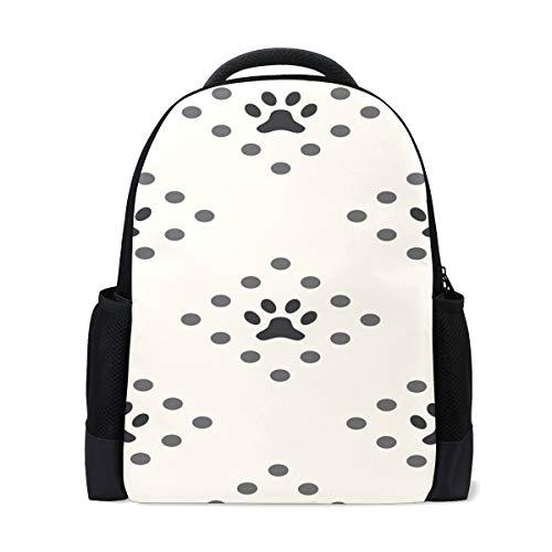 Fantazio - Mochila con colgante especial para perro, diseño de huellas de perro