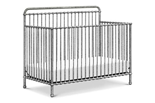 Million Dollar Baby Classic Winston 4-in-1 Convertible Crib in Vintage Silver