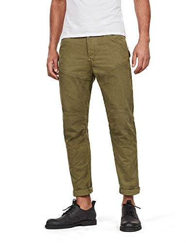 G-STAR RAW Men's 5620 3D Strike Tapered Coloured Straight Jeans - Green - W34