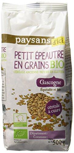 Ethiquable Petit Épeautre en Grain Bio 500 g Paysans d'Ici - Lot de 4