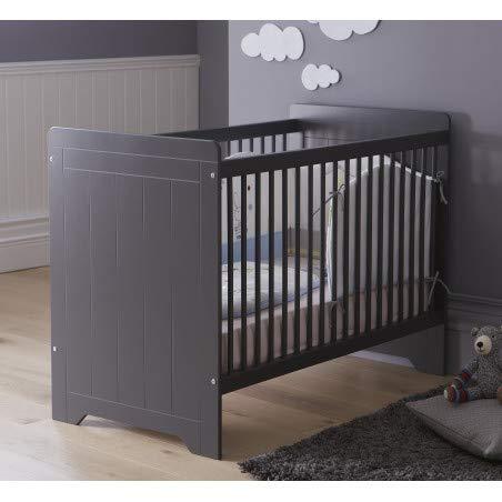 Alfred & Compagnie Lit bébé barreaux anthracite 60x120