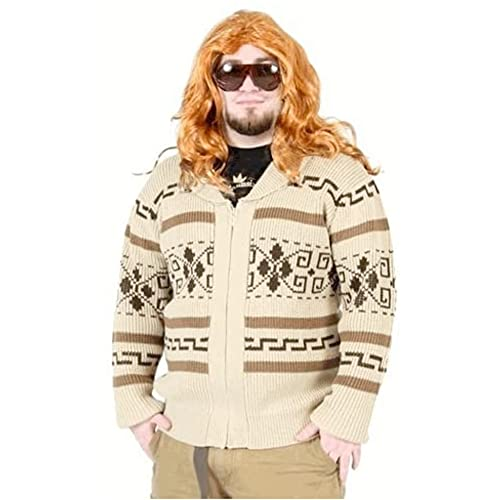 Sweater à fermeture éclair The Big Lebowski Jeffery The Dude - Costume - Cardigan - Beige - Large