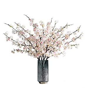 4 pcs Artificial Flowers Cherry Blossom Silk Flowers for Wedding Office Party Hotel Yard Home Decoration 42.9 inch (Light Pink)