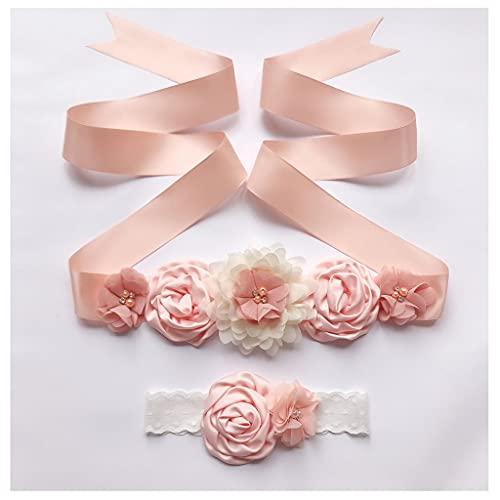 Afrsmw Cintura da Donna Bambine Vestito da Sposa Vestiti Cintura con Fiori e Fasce Floreali Cintura...