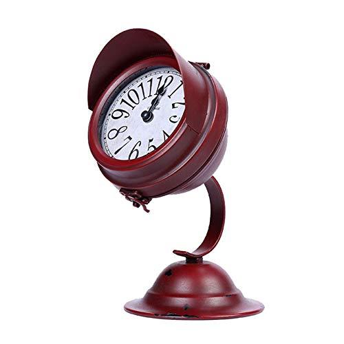 Yiyu Digitaler Wecker Tischuhr Europäische Retro-Stummschaltung Desktop-Deko-Uhr Nicht-Tick-Stummschaltuhr z (Color : A)