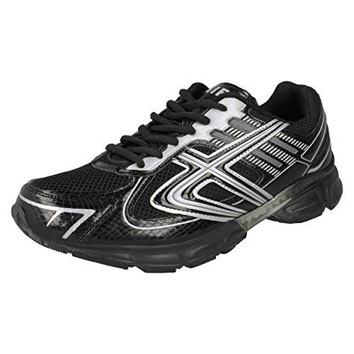 Airtech ,  Herren Durchgängies Plateau Sandalen mit Keilabsatz, Mehrfarbig - schwarz/Silber - Größe: One Size