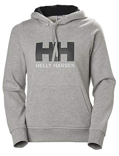 Helly Hansen W HH Logo Hoodie Hoodie, Mujer, Grey Melange, M