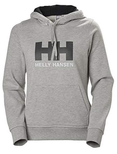 Helly Hansen W HH Logo Hoodie Hoodie, Mujer, Grey Melange, L
