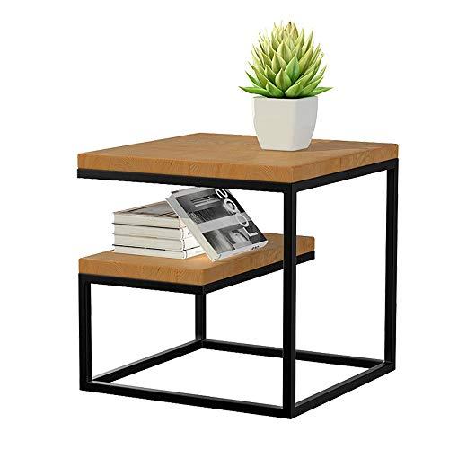 Quskto salontafel, salontafel, zijbank, tafeltennistafel, nachtkastje, tafelstandaard en eenvoudige constructie voor woonkamer, decoratieve tafel, eenvoudig schoon te maken en te monteren